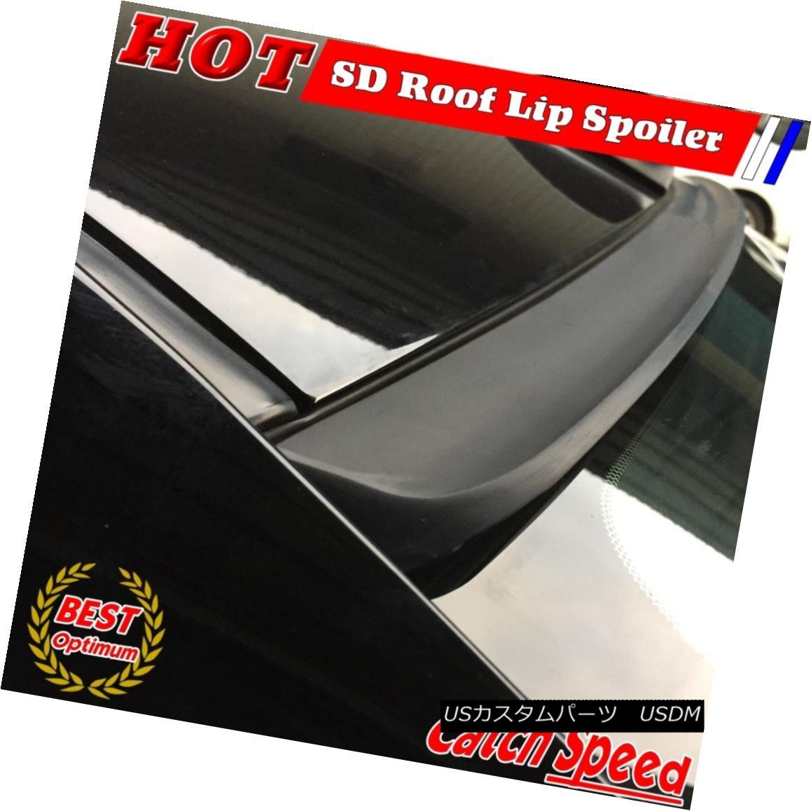 エアロパーツ Flat Black SD Style Rear Roof Lip Spoiler Wing For 03~04 Infiniti G35 V35 Sedan フラットブラックSDスタイルのリアルーフリップスポイラーウィング03?04インフィニティG35 V35セダン