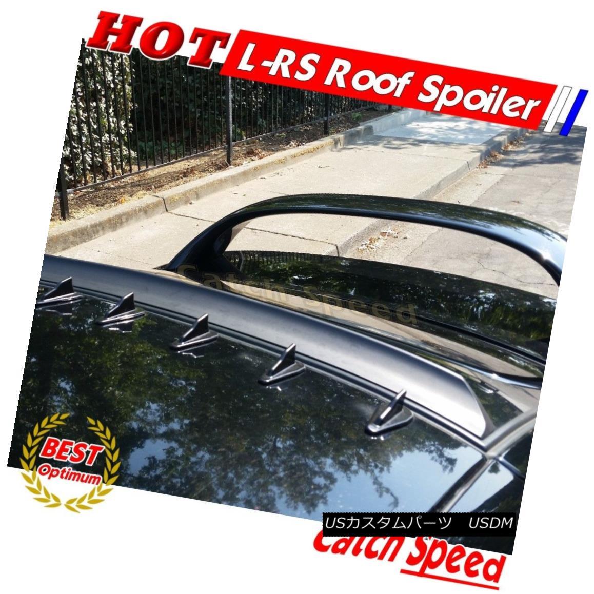 エアロパーツ Flat Black LRS Rear Roof Spoiler Wing For Chevrolet Cavalier 1995-2005 Sdean? シボレーキャバリア1995-2005セダン用フラットブラックLRSリアルーフスポイラーウィング?