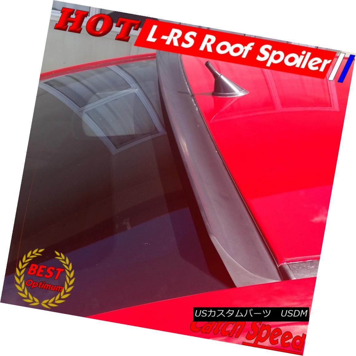 エアロパーツ Flat Black LRS Type Rear Roof Spoiler Wing For Honda CIVIC Sedan 2012~15 ? ホンダシビックセダン用フラットブラックLRSタイプリアルーフスポイラーウイング2012?15?