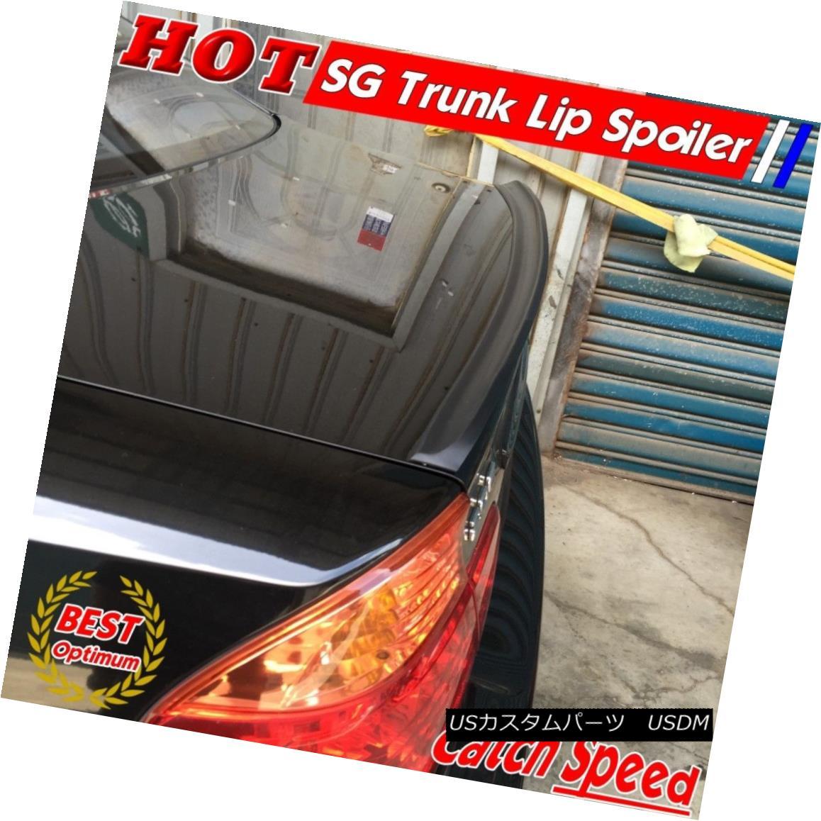エアロパーツ Flat Black SG Style Rear Trunk Lip Spoiler Wing For Audi A6 C7 Sedan 2012~15 ? フラットブラックSGスタイルリアトランクリップスポイラーウィングアウディA6 C7セダン2012?15?
