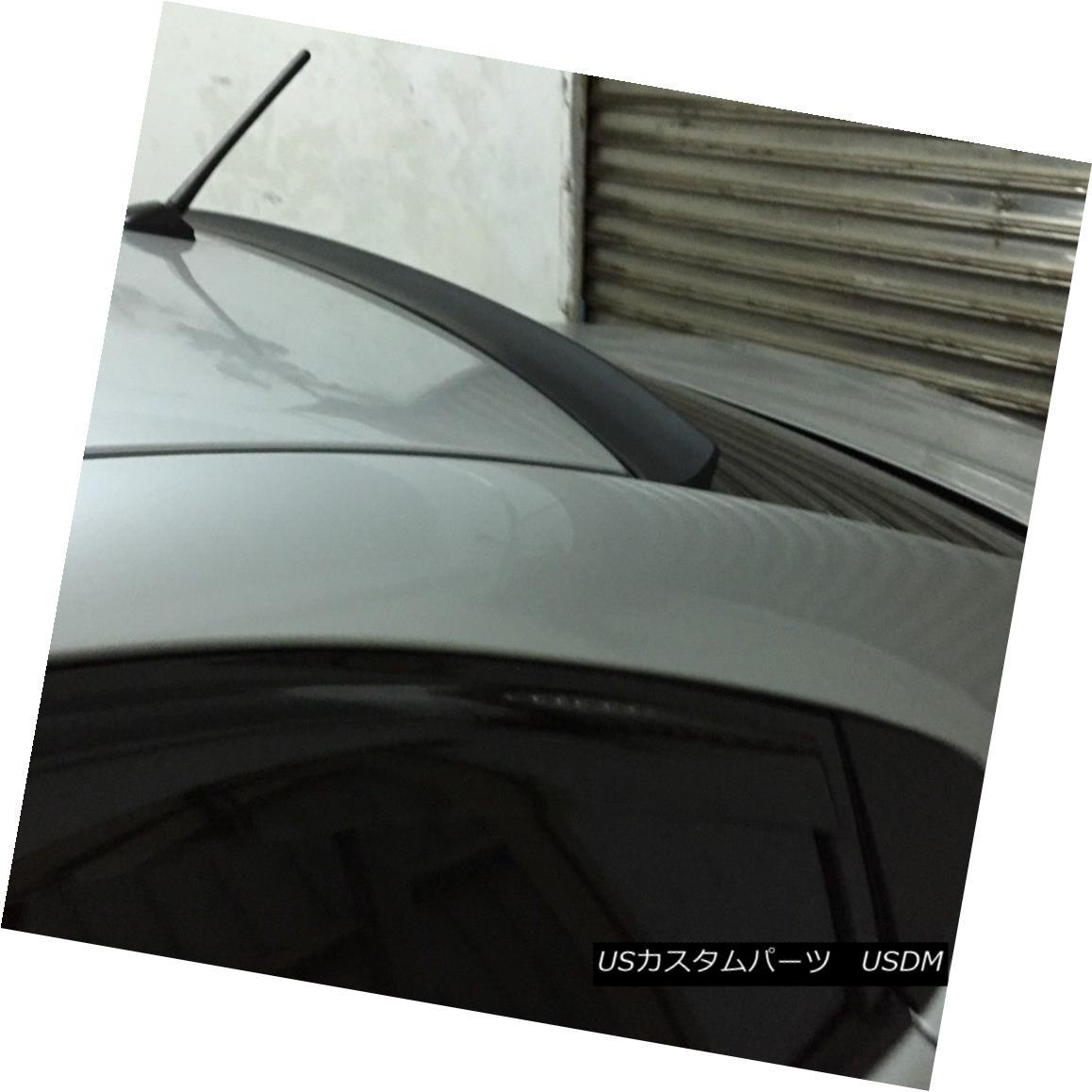 エアロパーツ Flat Black L Style Rear Window Roof Spoiler Wing For Acura TL 2009-2014 Sedan ? アキュラTL 2009-2014セダンのためのフラットブラックLスタイルリアウィンドウルーフスポイラーウイング?