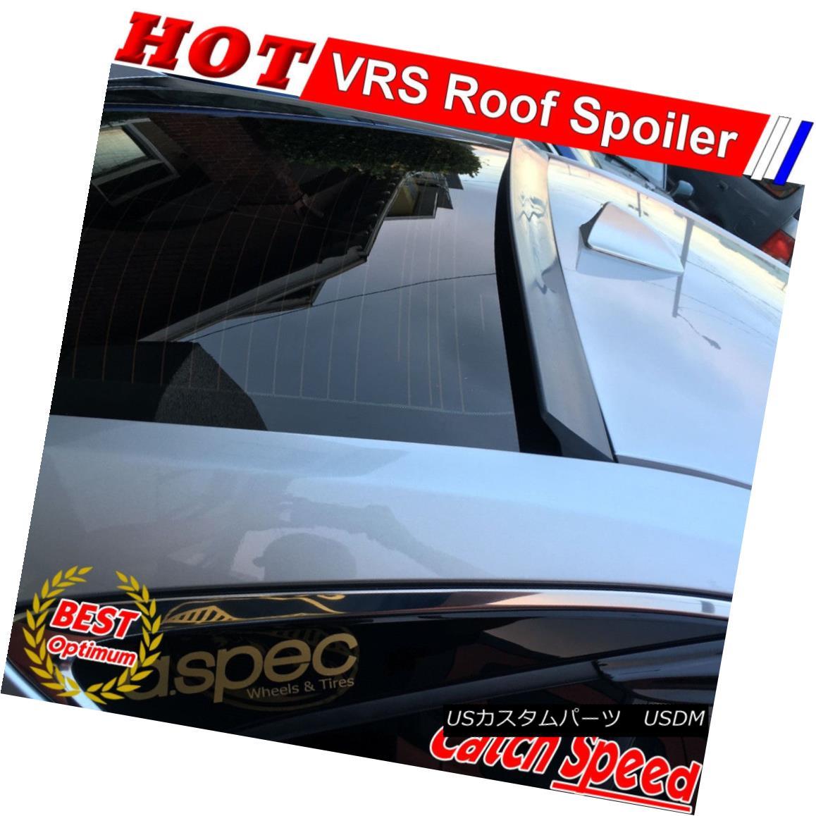エアロパーツ Flat Black VRS Style Rear Roof Spoiler Wing For Chevrolet Volt 2011-2015 Sedan シボレーボルト2011-2015セダン用フラットブラックVRSスタイルリアルーフスポイラーウイング