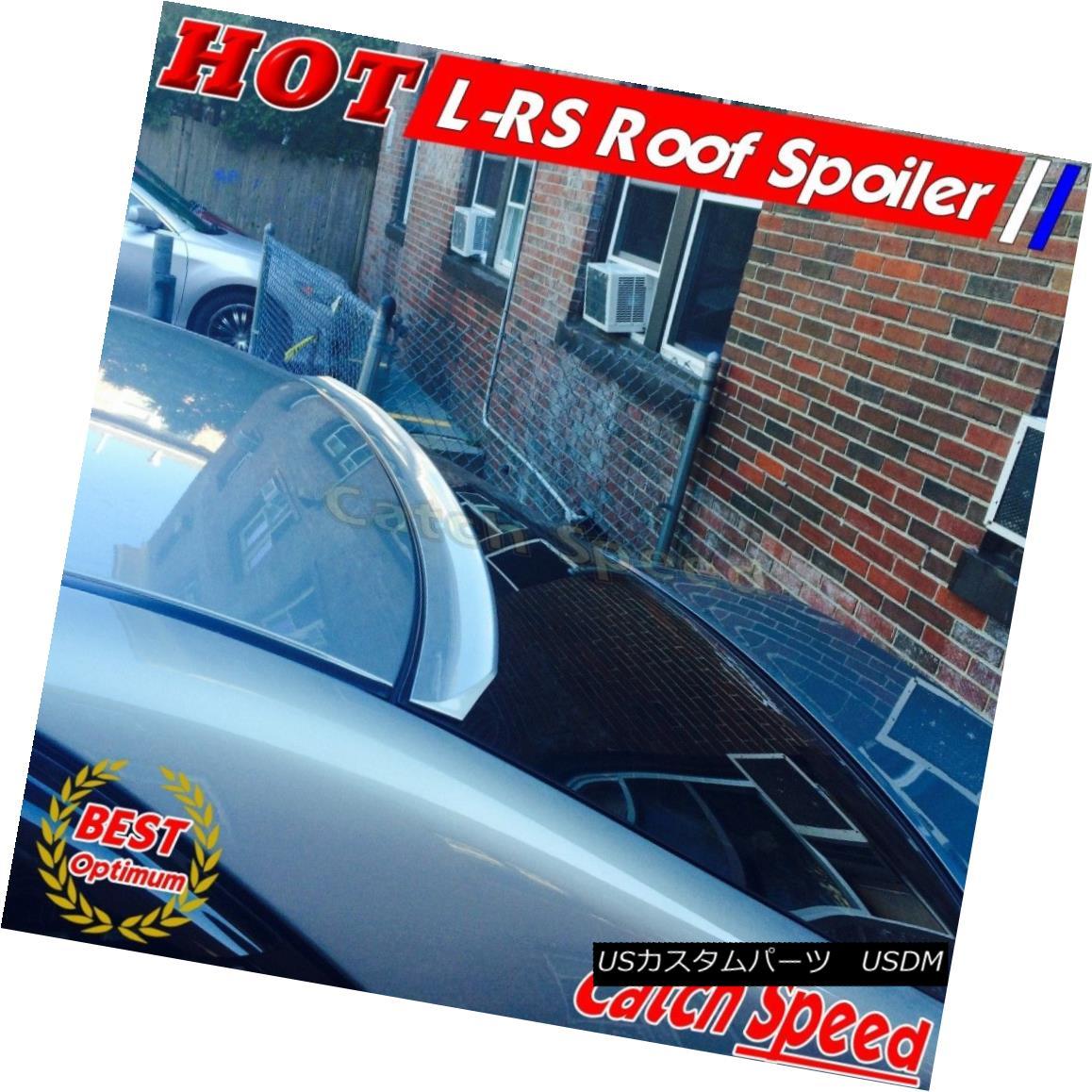 エアロパーツ Flat Black LRS Type Rear Roof Spoiler Wing For Infiniti G37 V36 Sedan 2011~15 ? インフィニティ用フラットブラックLRSタイプリアルーフスポイラーウィングG37 V36セダン2011?15?