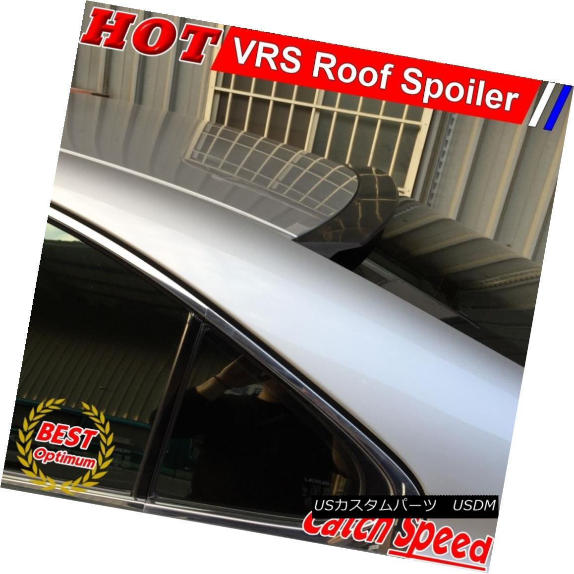 エアロパーツ Flat Black VRS Type Rear Roof Spoiler Wing For Infiniti Q50 V37 Sedan 2014-2015 インフィニティQ50 V37セダン2014-2015用フラットブラックVRSタイプリアルーフスポイラーウイング