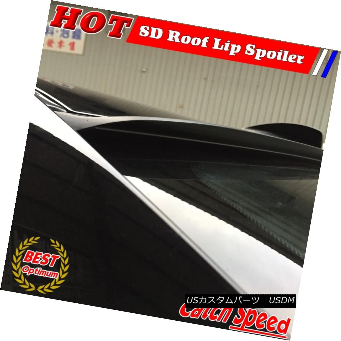 エアロパーツ Flat Black SD Style Rear Roof Spoiler Wing For Ford Fusion 2006~2009 Sedan フォードフュージョン用フラットブラックSDスタイルリアルーフスポイラーウィング2006?2009セダン