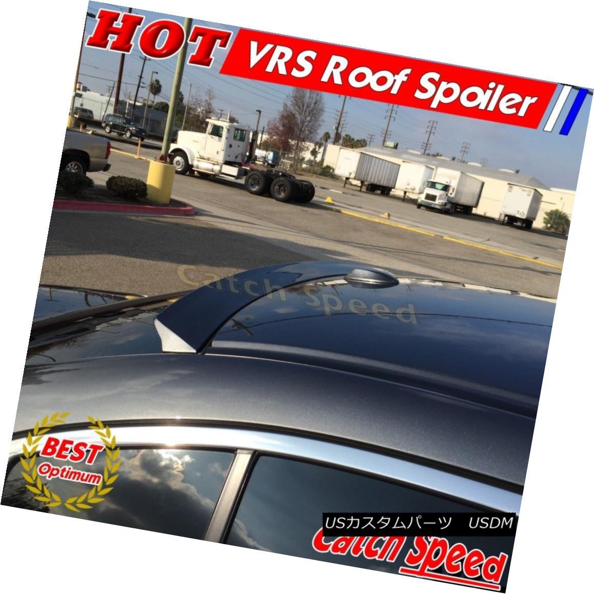 エアロパーツ Flat Black VRS Style Rear Roof Spoiler Wing For Cadillac ATS-V Coupe 2015-2016 キャデラックATS-Vクーペ2015-2016用フラットブラックVRSスタイルリアルーフスポイラーウイング
