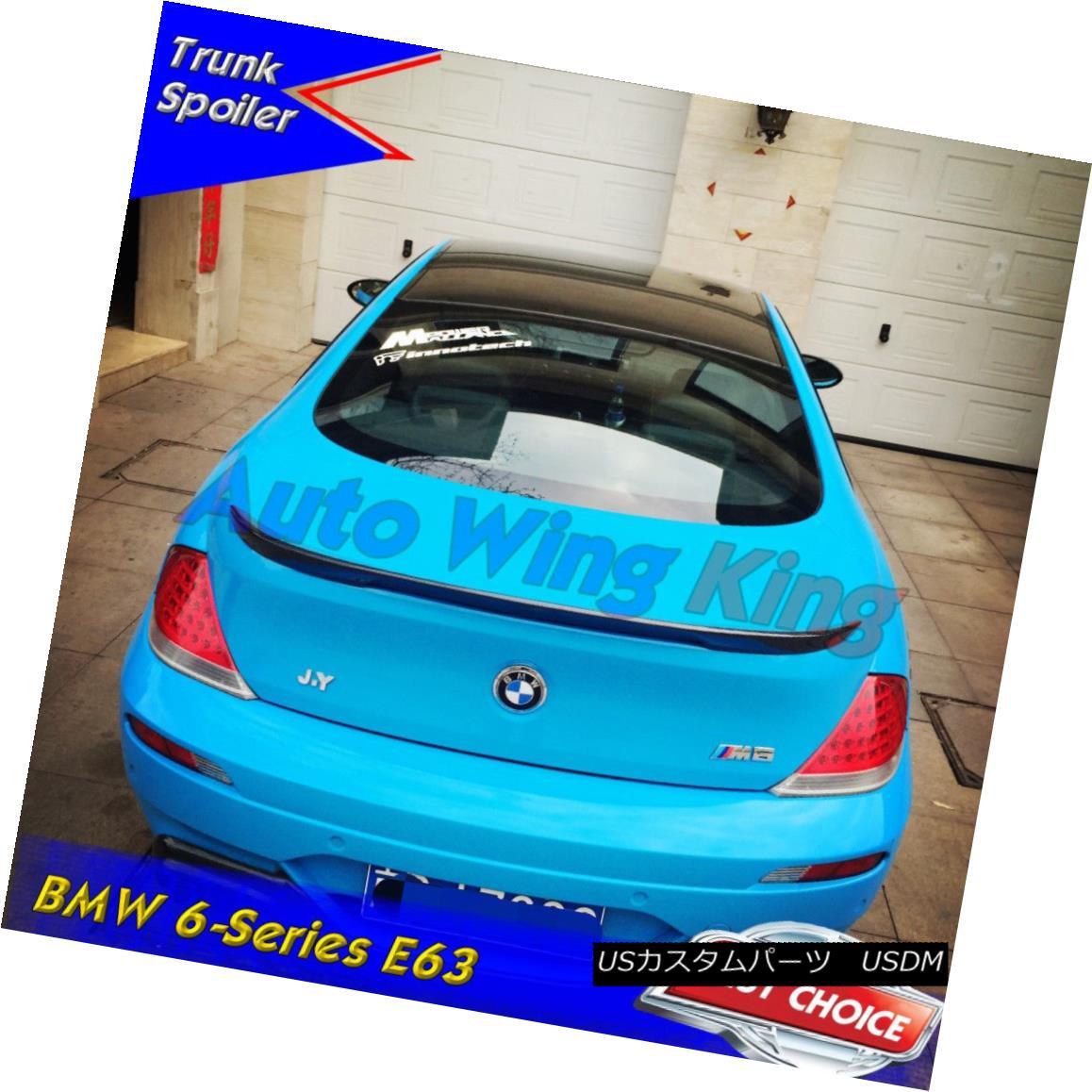 エアロパーツ Painted New FRP V Type Rear Trunk Spoiler Wing For 04-08 BMW E63 6 Series Coupe ペイントされた新しいFRP Vタイプのリアトランクスポイラーウィング04-08 BMW E63 6シリーズクーペ