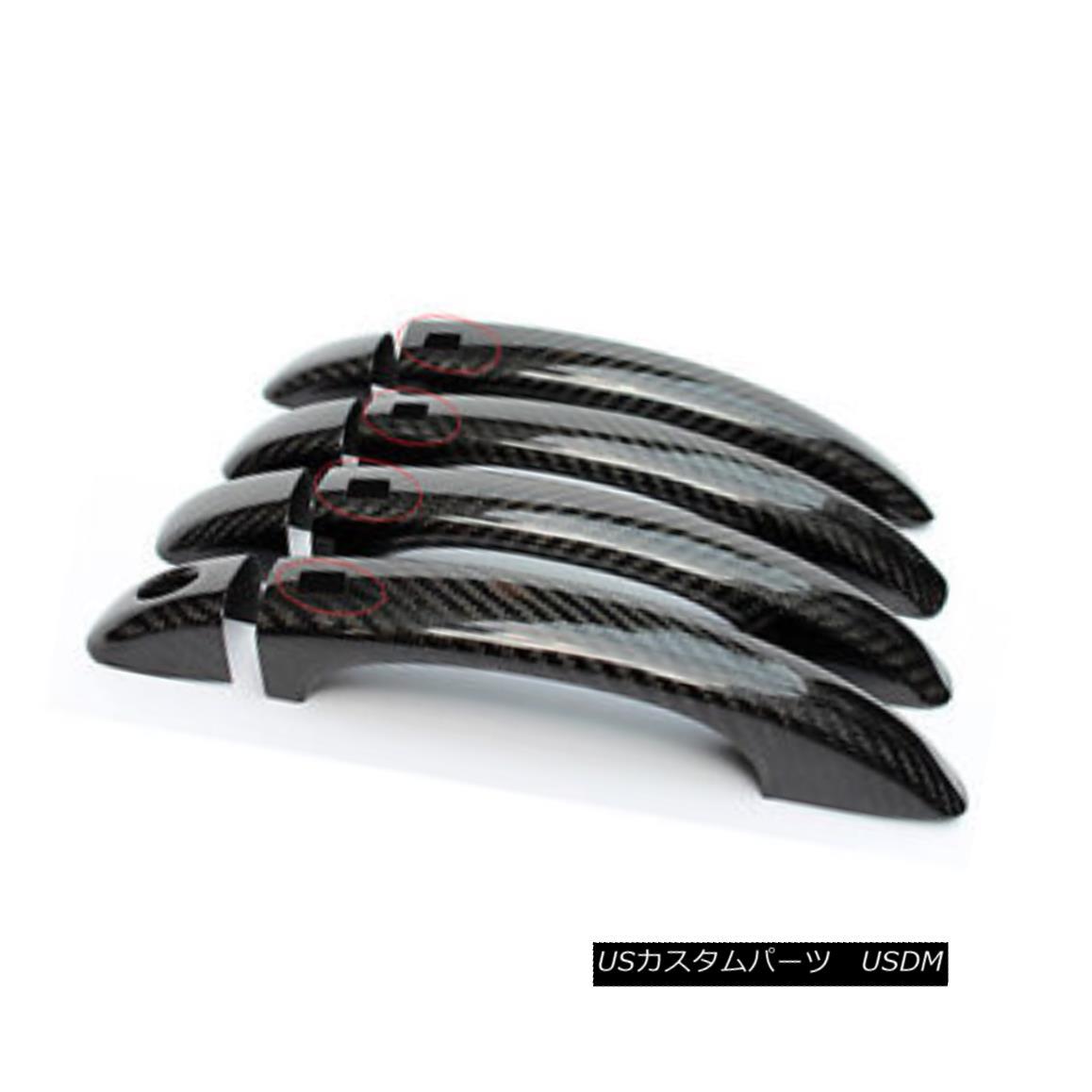 車用品 バイク用品 >> パーツ 外装 エアロパーツ その他 Outter 春の新作続々 Door Handle Cover Carbon With Sensor 10-16 Audi 舗 For Trim Q5 Fiber アウディ10-16用外側ドアハンドルカバーセンサーバートリムカーボンファイバー付きQ5 Bar