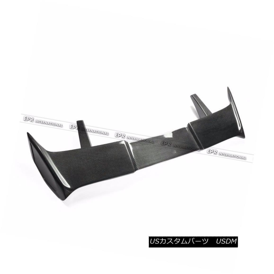 エアロパーツ Carbon Fiber Rear Spoiler Roof Wing Aero Kit For Hyundai Veloster Turbo MR V3 現代ベロスターターボMR V3用カーボンファイバーリアスポイラールーフウィングエアロキット