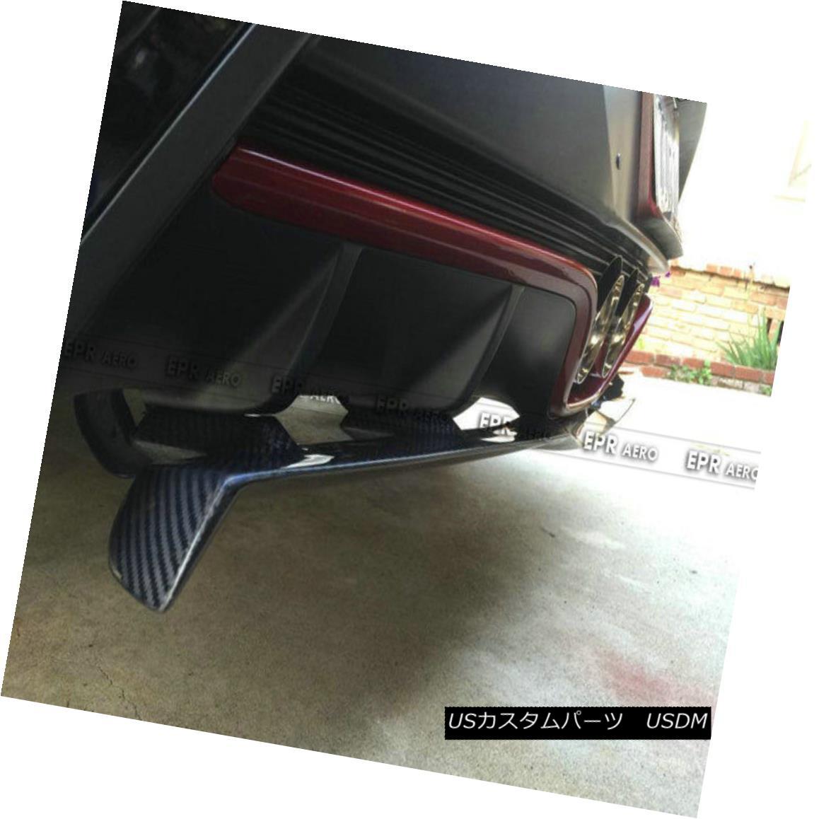 エアロパーツ Rear Bumper Lip Diffuser For Hyundai Veloster Turbo Carbon Fiber NFD Style 現代ベロスターターボカーボンファイバー用リアバンパーリップディフューザーNFDスタイル