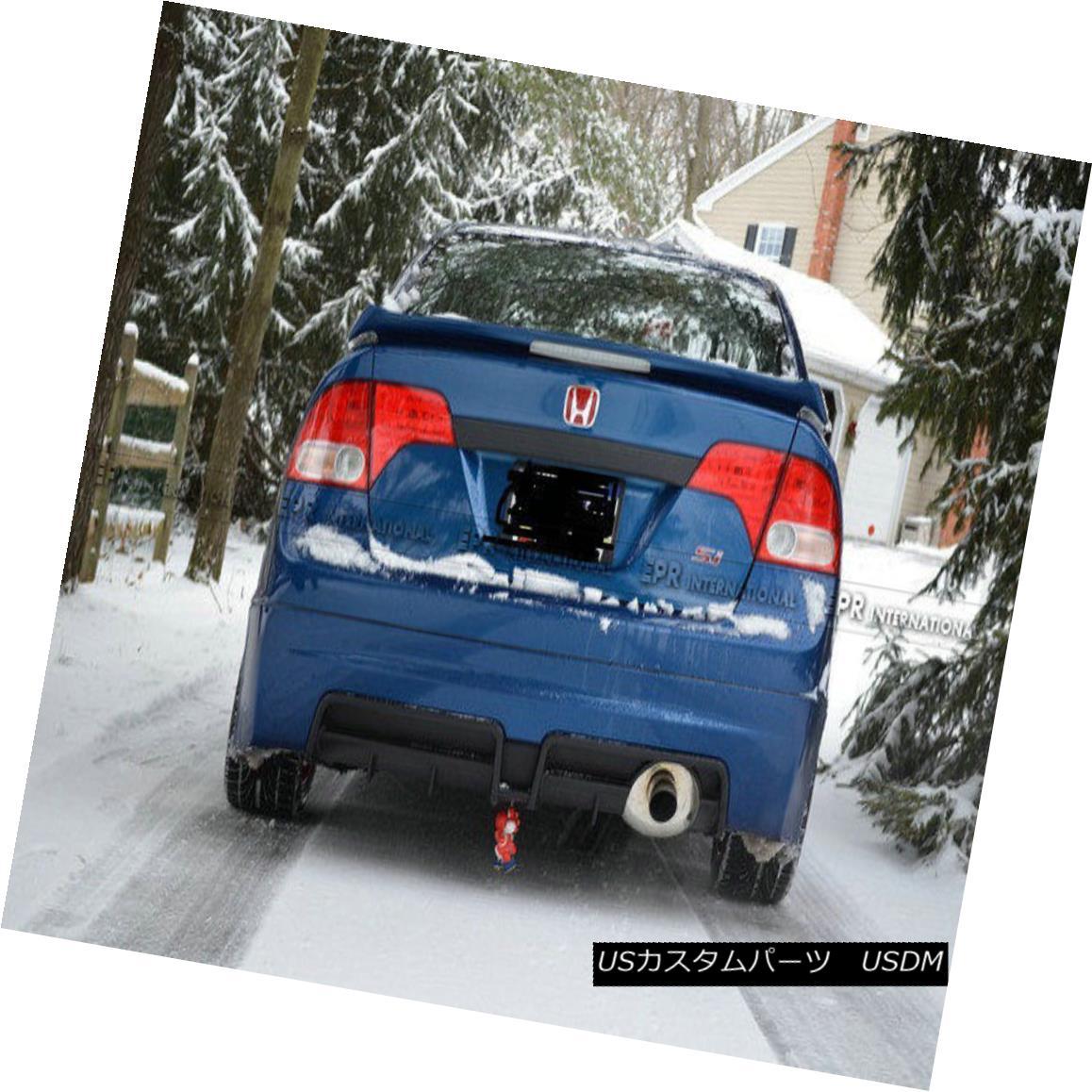 エアロパーツ Rear Bumper Diffuser For Honda 8th Generation Civic SI Mugn FA USDM Carbon Fiber ホンダ8thシビックSI Mugn FA USDMカーボンファイバー用リアバンパーディフューザー