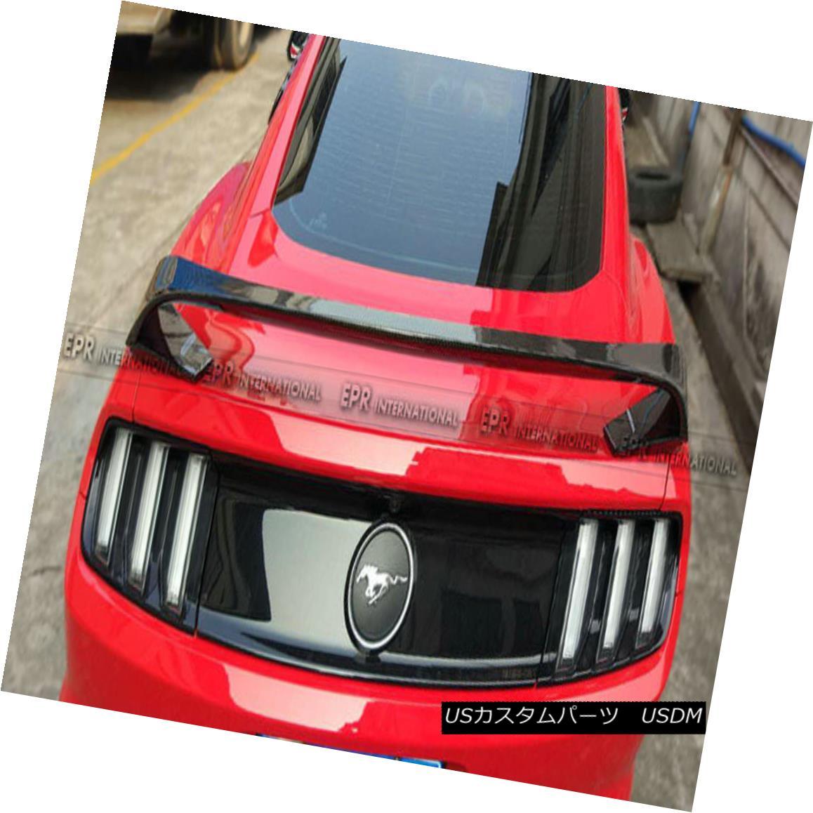 2015 Light Rear Tail Trim Bumper Fog Lamp Mustang エアロパーツ Fiber Cover 後部バンパーテールライトカバー2015フォードマスタングのためのフォグランプトリム炭素繊維 Ford Carbon For