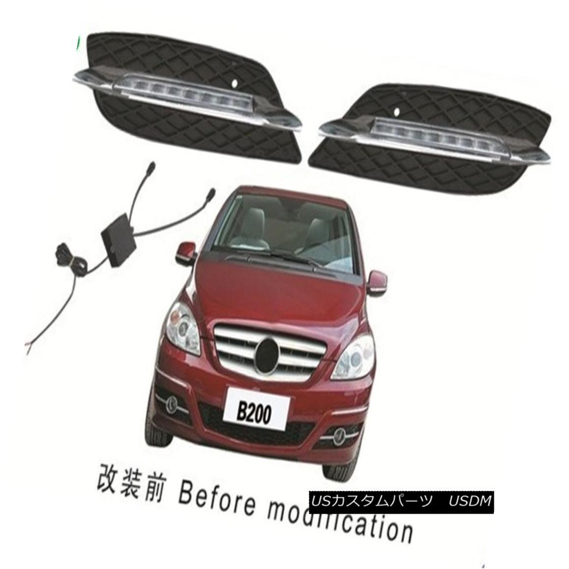 エアロパーツ DRL Kits For Benz W245 B150 B170 B180 B200 2009-2010 LED Daytime Running Light DRLキット(ベンツW245用)B150 B170 B180 B200 2009-2010 LEDデイタイムランニングライト