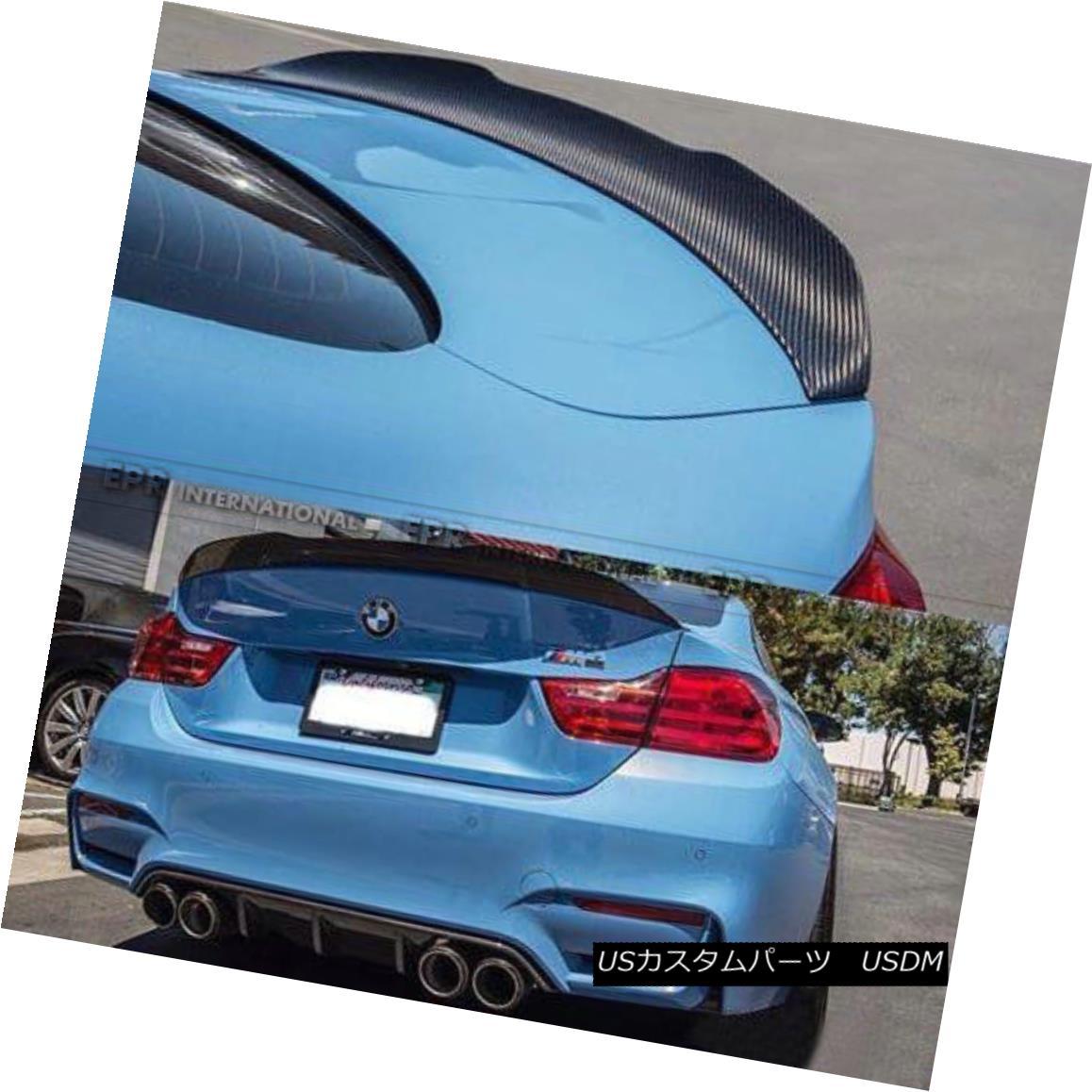エアロパーツ Parts Rear Spoiler M4 Carbon BMW Wing Style PSMスタイルカーボンファイバーパーツリアトランクスポイラーウイングリップキット For F82 PSM Kits F82 Trunk Fiber BMW M4 Lip