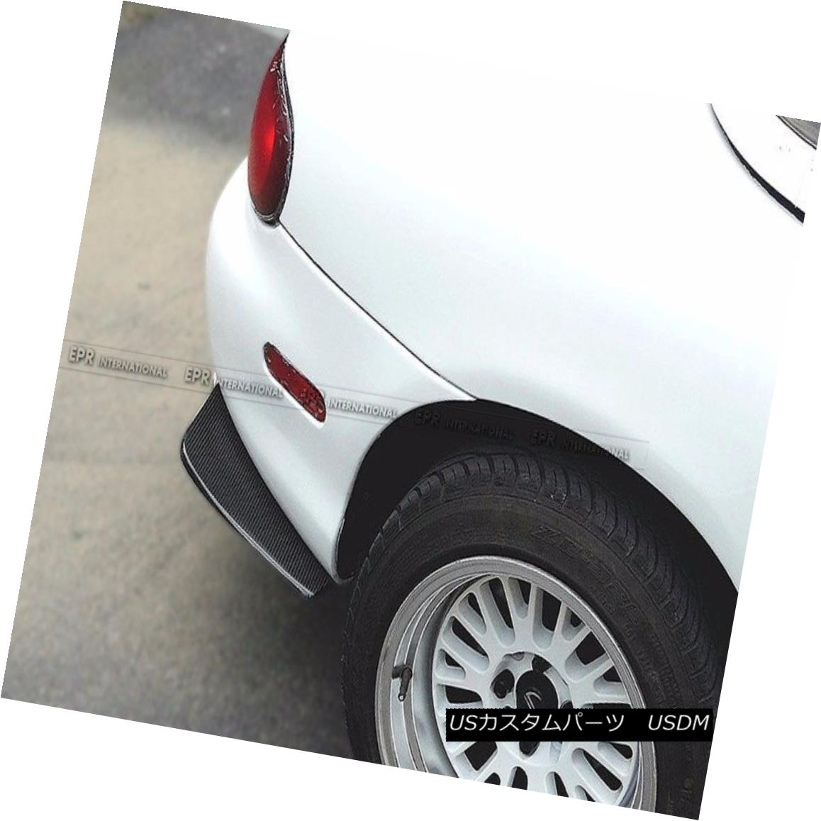 エアロパーツ Carbon Fiber Rear Bumper Spat Splitter Canard Aero Kit For Mazda MX5 Miata NB カーボンファイバーリアバンパースパッツスプリッター、マツダMX5 Miata NB用エアロキット