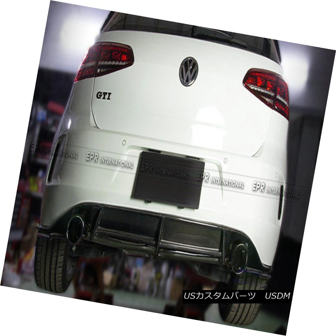 エアロパーツ Carbon Rear Diffuser For Volkswagen VW Golf 7 R Revo Bumper Rear Lip(Fit R Only) フォルクスワーゲンVWゴルフ用カーボンリアディフューザー7 R Revo Bumperリアリップ(フィットRのみ)