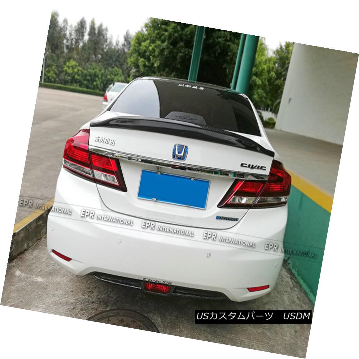 エアロパーツ For Hyundai 9th Gen Sonata LF Rear Trunk Spoiler Wing Boot Lip Part Carbon Fiber 現代第9世代ソナタLFリアトランクスポイラーウイングブーツリップ部カーボンファイバー