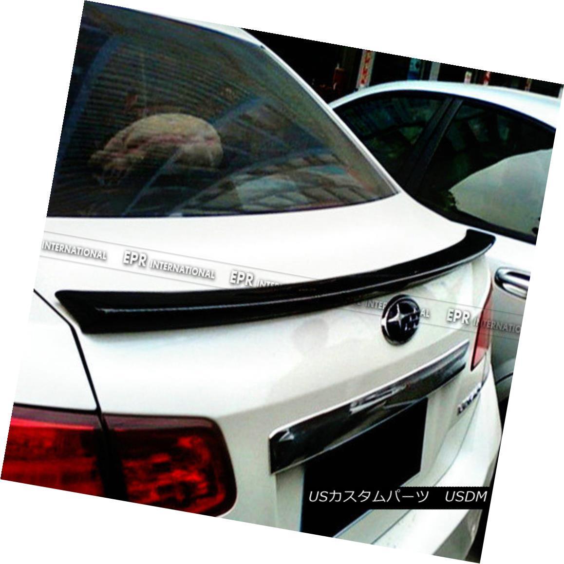 エアロパーツ ABC Rear Trunk Spoiler Wing Lip Kit For Subaru Legacy BP5-D~F 2009+ Carbon Fiber スバルレガシー用ABCリアトランクスポイラーウイングリップキットBP5-D?F 2009+炭素繊維