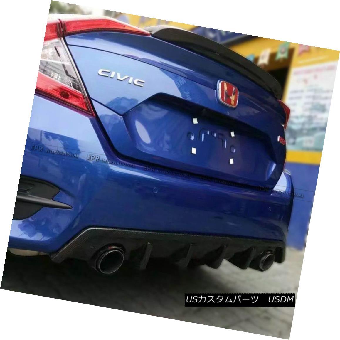 エアロパーツ ABC Rear Diffuser Kits For Honda 10th Generation Civic FC CM-Style Carbon Fiber ホンダ第10世代シビックFC CMスタイルカーボンファイバー用ABCリアディフューザーキット