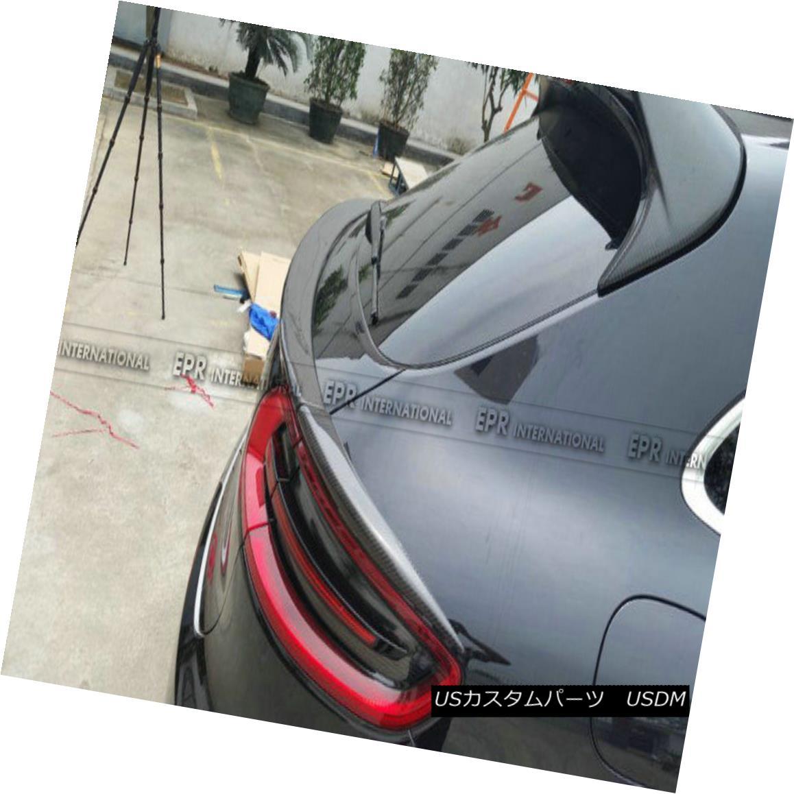 エアロパーツ ABC For Porsche Macan Middle Spoiler Boot Wing Lip Add on 3Pcs Kits Carbon Fiber ABC for Porsche Macanミドル・スポイラー・ブーツ・ウイング・リップ・アドオン・3点セット・カーボンファイバー