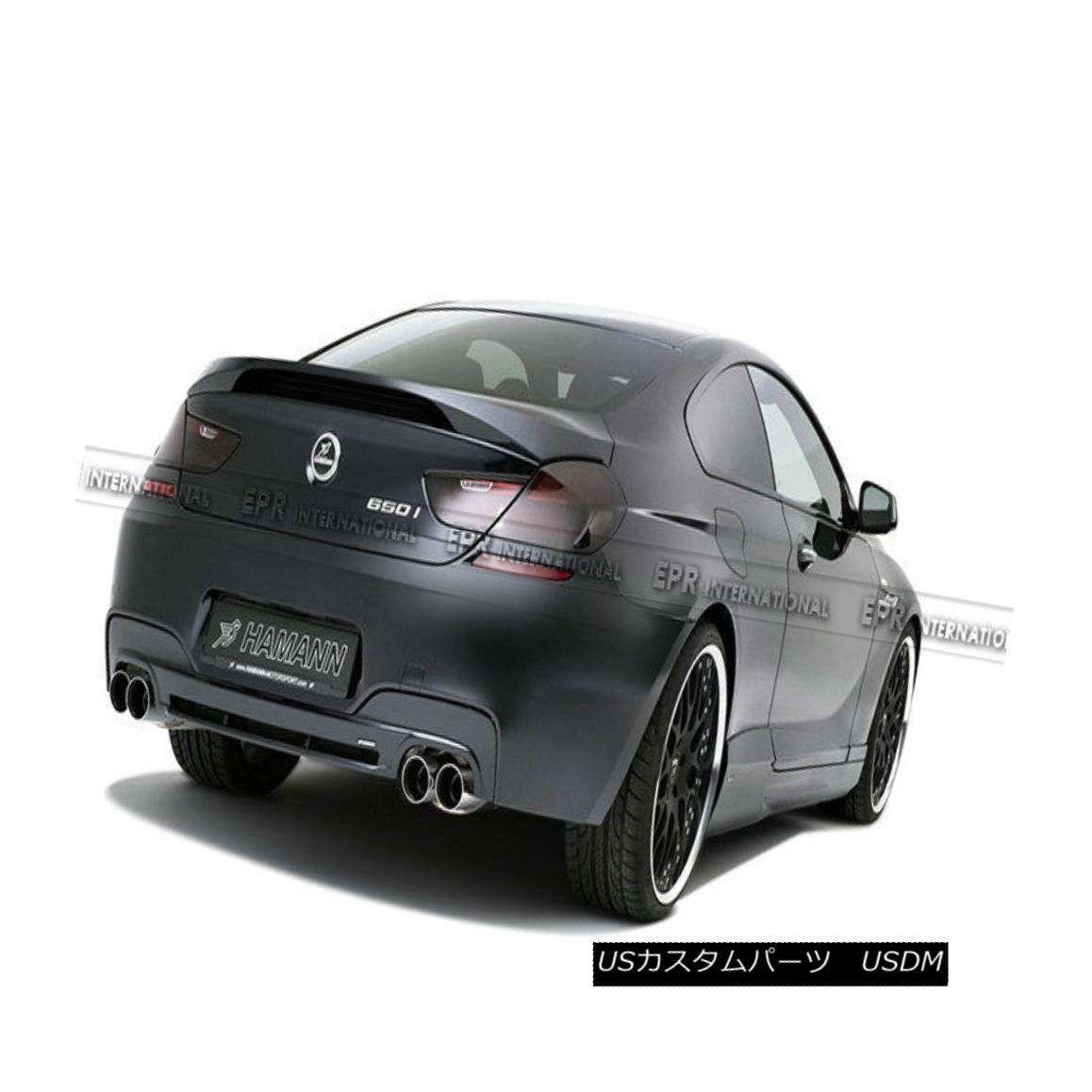 エアロパーツ Carbon Fiber Rear Spoiler Trunk Wing Lip Kit For BMW F12 F13 6 Series H Style カーボンファイバーリアスポイラートランクウィングリップキットfor BMW F12 F13 6シリーズHスタイル