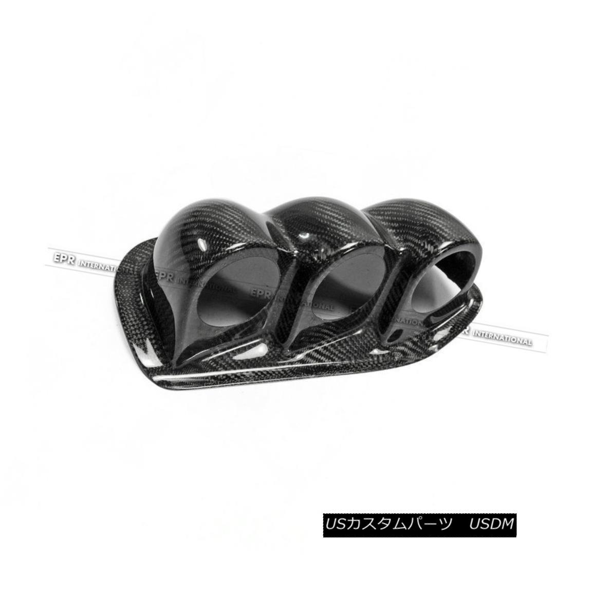 エアロパーツ Carbon Fiber Uras Dash Mount Triple Gauge Pod 60mm (RHD) For Nissan Silvia S14 カーボンファイバーウラスダッシュマウントトリプルゲージポッド60mm(RHD)日産シルビアS14用