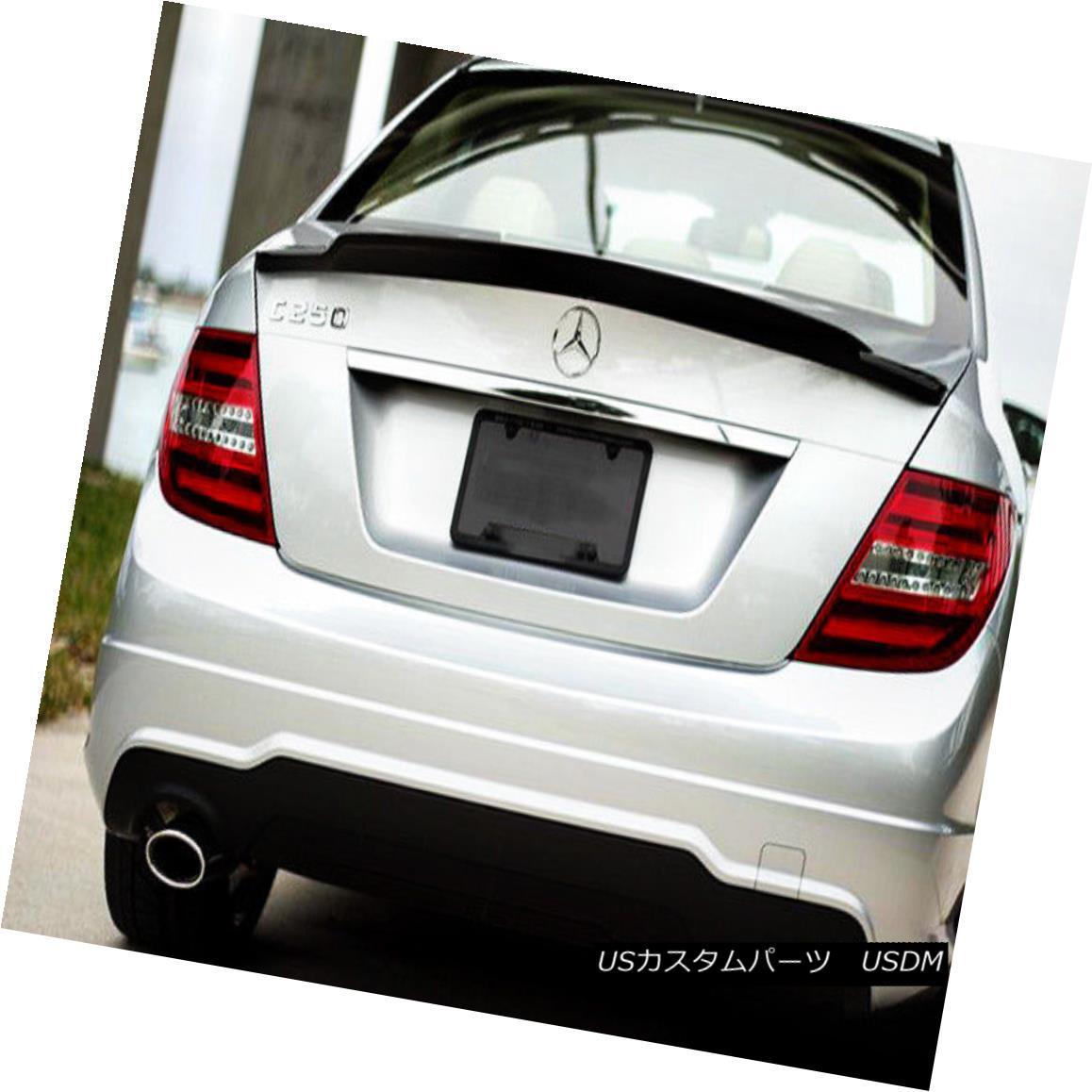 エアロパーツ ABC Rear Trunk Spoiler Lip For BENZ W204 C63 C-Class Renntech Style Carbon Fiber ベンツW204 C63用ABCリアトランクスポイラーリップCクラスRenntechスタイルカーボンファイバー