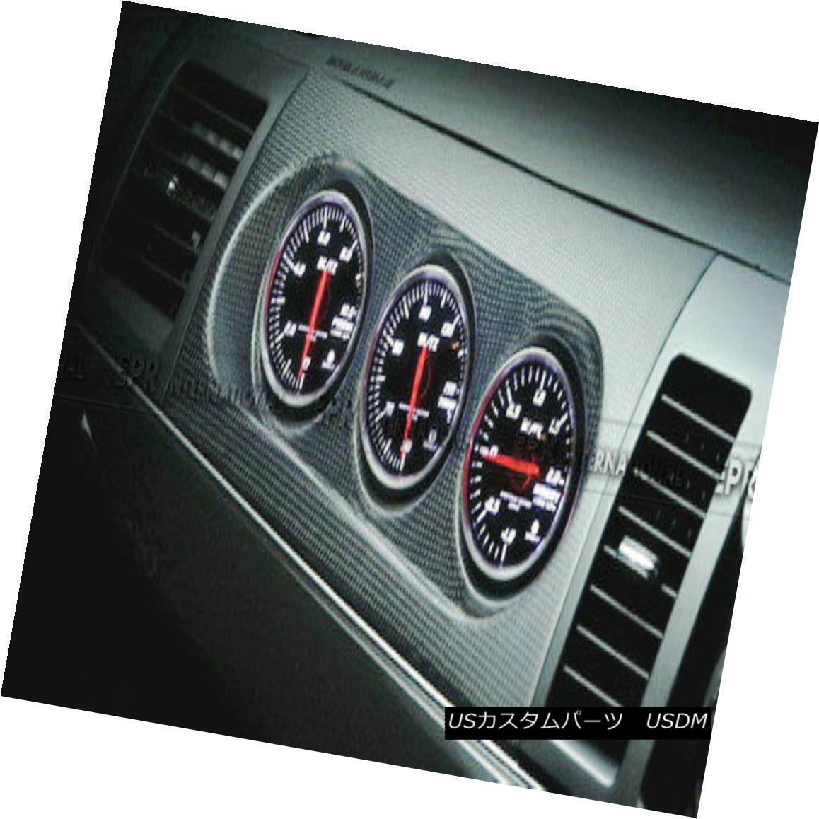 車用品 バイク用品 >> パーツ 外装 エアロパーツ その他 売店 Carbon Fiber For Evolution 10 Cover 60mm Triple Gauge Pod M7スタイルトリプルゲージポッドホルダーカバー60mm 売れ筋ランキング RHD 進化のための炭素繊維10 M7 Holder Style
