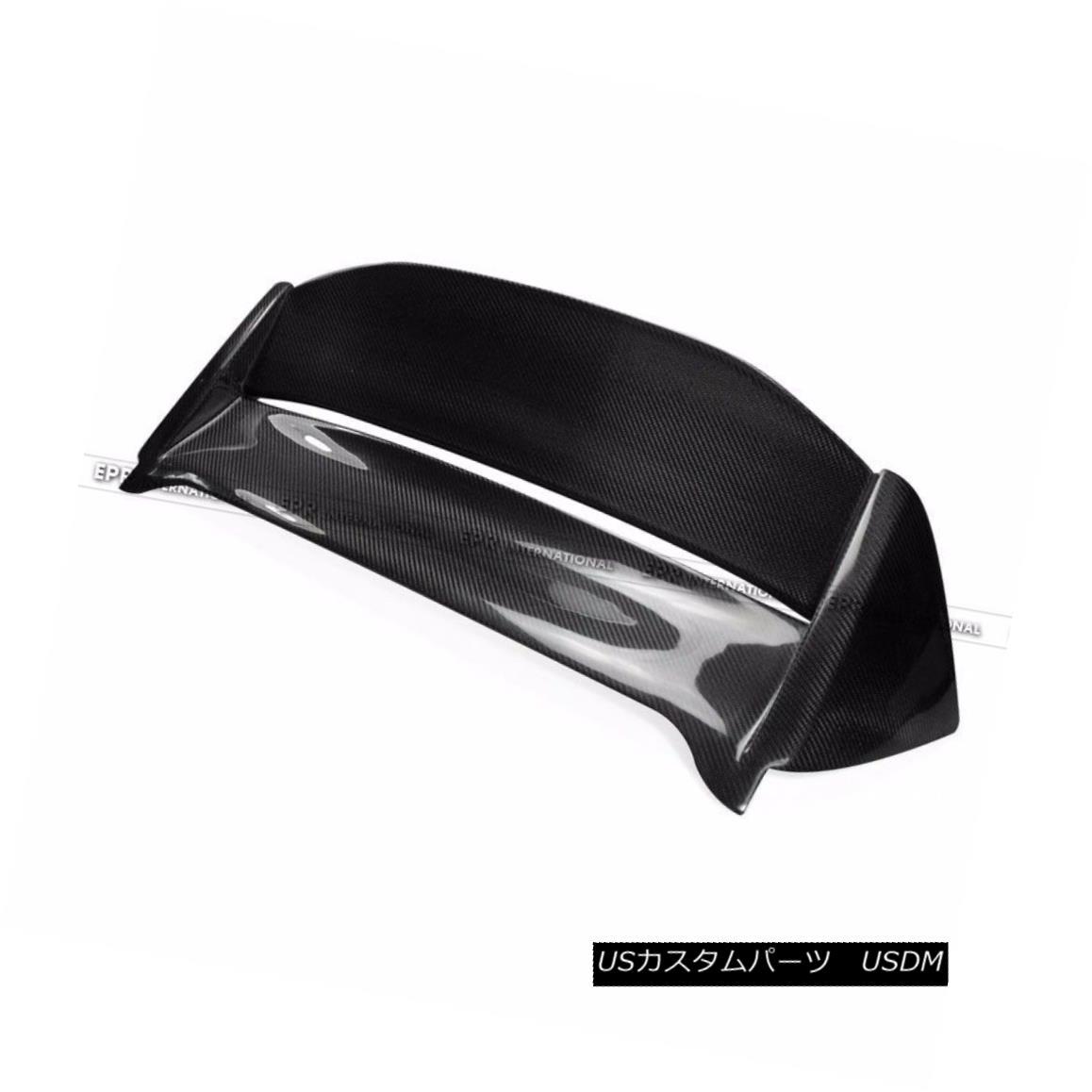 エアロパーツ Carbon Mug Style Hatchback Roof Spoiler Wing For Honda 02-05 Civic EP3 (USDM) ホンダ用炭素マットスタイルハッチバックルーフスポイラーウイング02-05 Civic EP3(USDM)