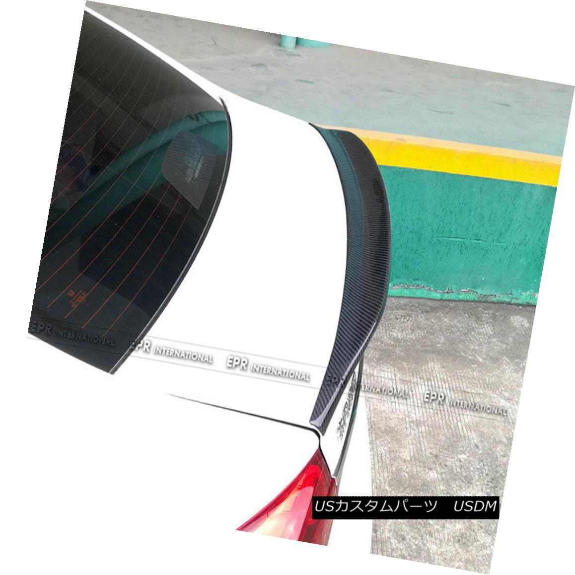 エアロパーツ For Hyundai 9th Gen Sonata LF Rear Ducktail Boot Lip Spoiler Wing Carbon Fiber 現代第9世代ソナタLFリアダックテイルブーツリップスポイラーウィングカーボンファイバー