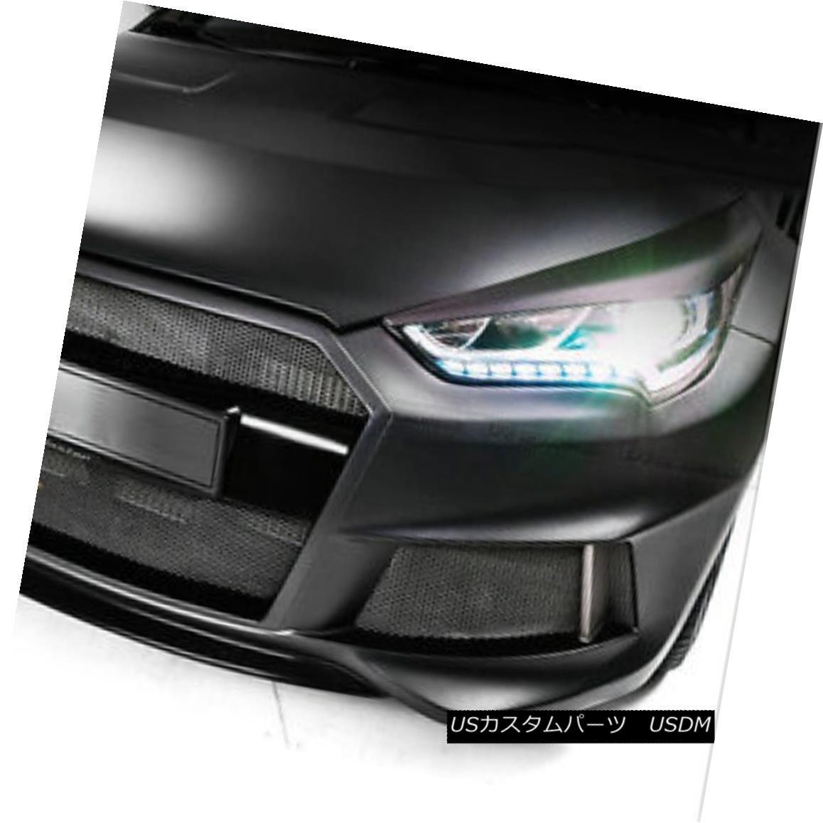 エアロパーツ For Hyundai Veloster Carbon Fiber Headlight Cover Eyebrow Eye Lid Trim LP Style Hyundai VelosterカーボンファイバーヘッドライトカバーEyebrow Eye Lid Trim LP Style
