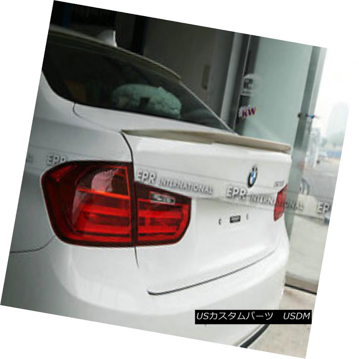 エアロパーツ For BMW F30 Rear Trunk Spoiler Wing Lip (Big) Protector Wings P-Style FRP BMW F30用リアトランクスポイラーウイングリップ(ビッグ)プロテクターウイングP-スタイルFRP