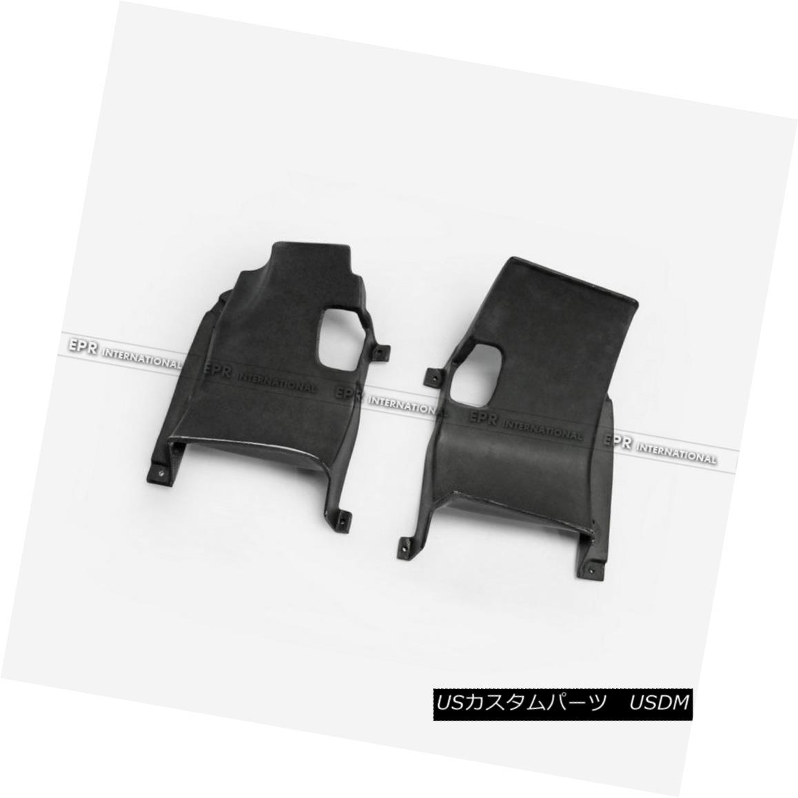 エアロパーツ For Mitsubishi Evo 10 Intercooler Side Panels Cover Trim 2Pcs Kit Carbon Fiber Mitsubishi Evo 10用インタークーラー・サイド・パネルカバー・トリム2個キット・カーボン・ファイバー