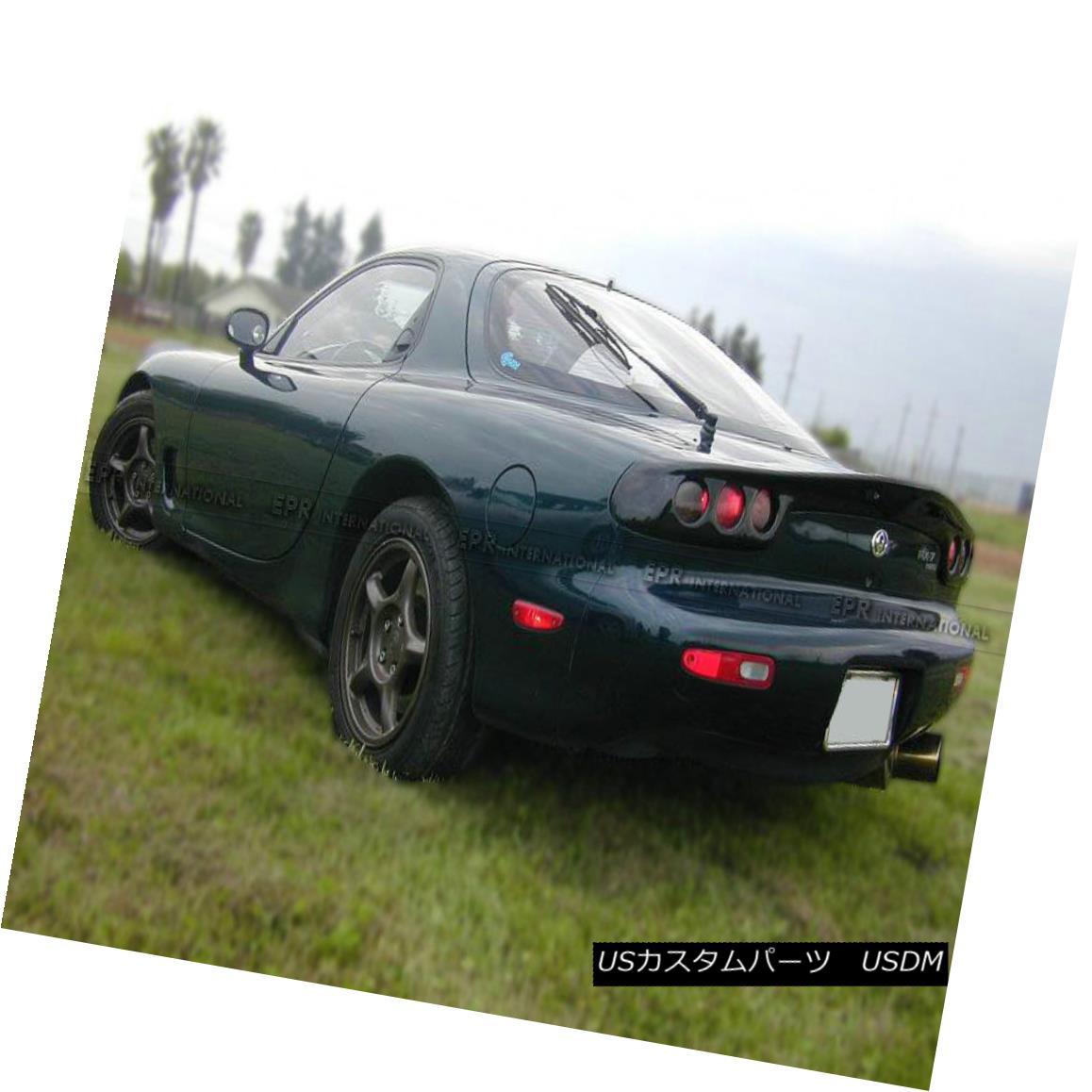 エアロパーツ AER Rear Lamb Trunk Light Cover For Mazda RX7 FD3S RE Style Carbon Fiber マツダRX7 FD3S REスタイルカーボンファイバーのためのAERリアラムトランクライトカバー