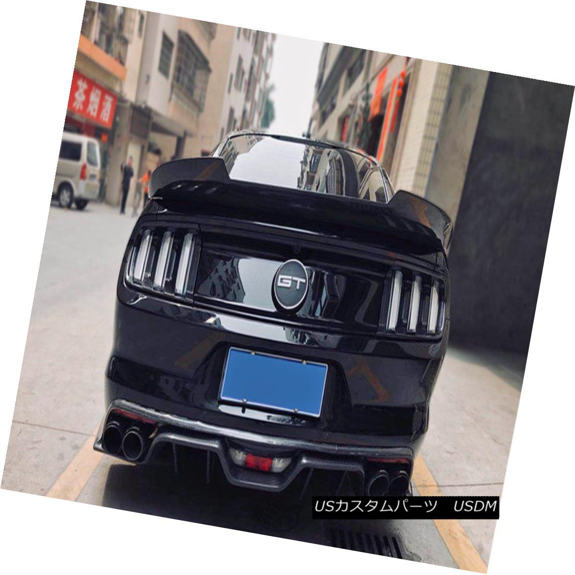 エアロパーツ ABC Rear Trunk Spoiler Wing Lip Kit For Ford Mustang 2015 MMD Style Carbon Fiber Ford Mustang 2015 MMDスタイルカーボンファイバー用ABCリアトランクスポイラーウイングリップキット