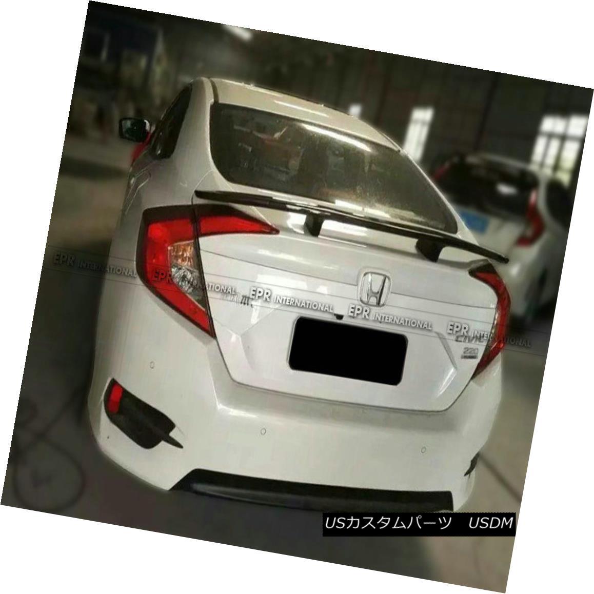 エアロパーツ AER Rear Spoiler Wing For Honda 10th Generation Civic FC KG-Style Carbon Fiber ホンダ第10世代シビックFC KGスタイルカーボンファイバー用AERリアスポイラーウイング