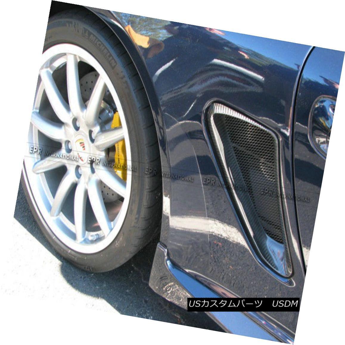 エアロパーツ Carbon For Porsche 06-12 Caymans 987 Boxster S EP Style Type 2 Side Vents Duct Carbon For Porsche 06-12 Caymans 987 Boxster S EPスタイルタイプ2サイドベントダクト