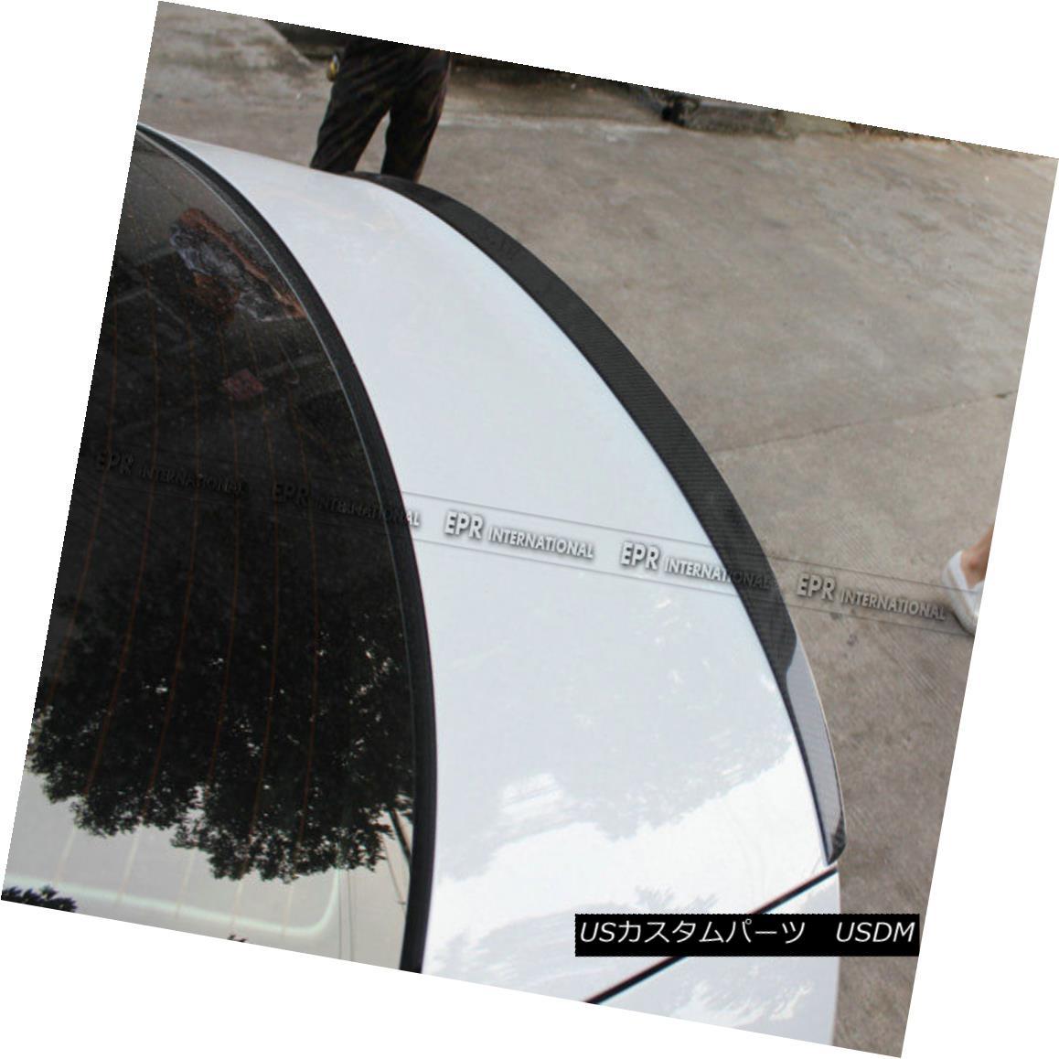 エアロパーツ Rear Ducktail Trunk Spoiler Wing Carbon Fiber For Audi A3 Sedan S3 Style 13-17 アウディA3セダンS3スタイル13-17のリアダックテールトランクスポイラーウィングカーボンファイバー