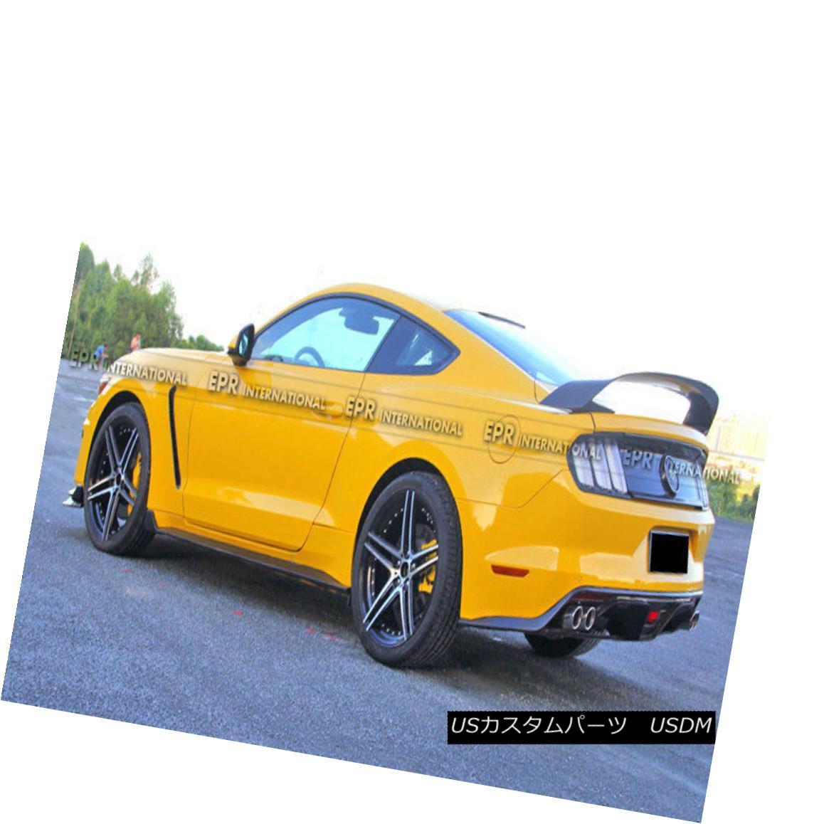 エアロパーツ Carbon Fiber For Ford 2015 Mustang GT350R Rear Trunk Spoiler Wing Refit Bodykits Ford 2015 Mustang GT350Rリアトランク・スポイラー用カーボンファイバーウイングリファイットボディキット