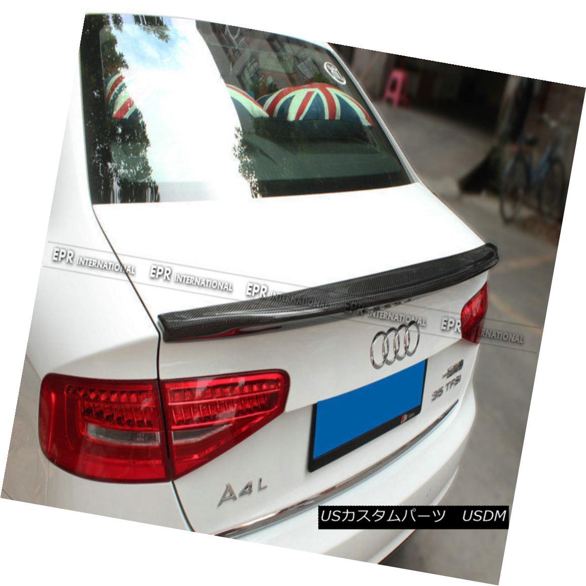 エアロパーツ For Audi A4 B8.5 Caractere (Belgium)Style 13-16 Carbon Rear Boot Spoiler Wing Audi A4 B8.5 Caractere(ベルギー)スタイル13-16カーボン・リア・ブート・スポイラー・ウィング