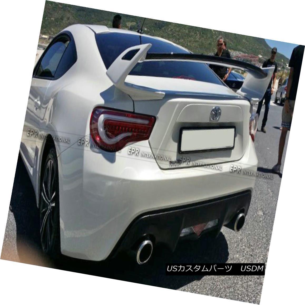 エアロパーツ For Toyota BRZ FT86 TK Style Rear Trunk Spoiler Wing Add on Full FRP Unpainted トヨタBRZ FT86 TKスタイルリア・トランク・スポイラー・ウィング用フルFRP未塗装