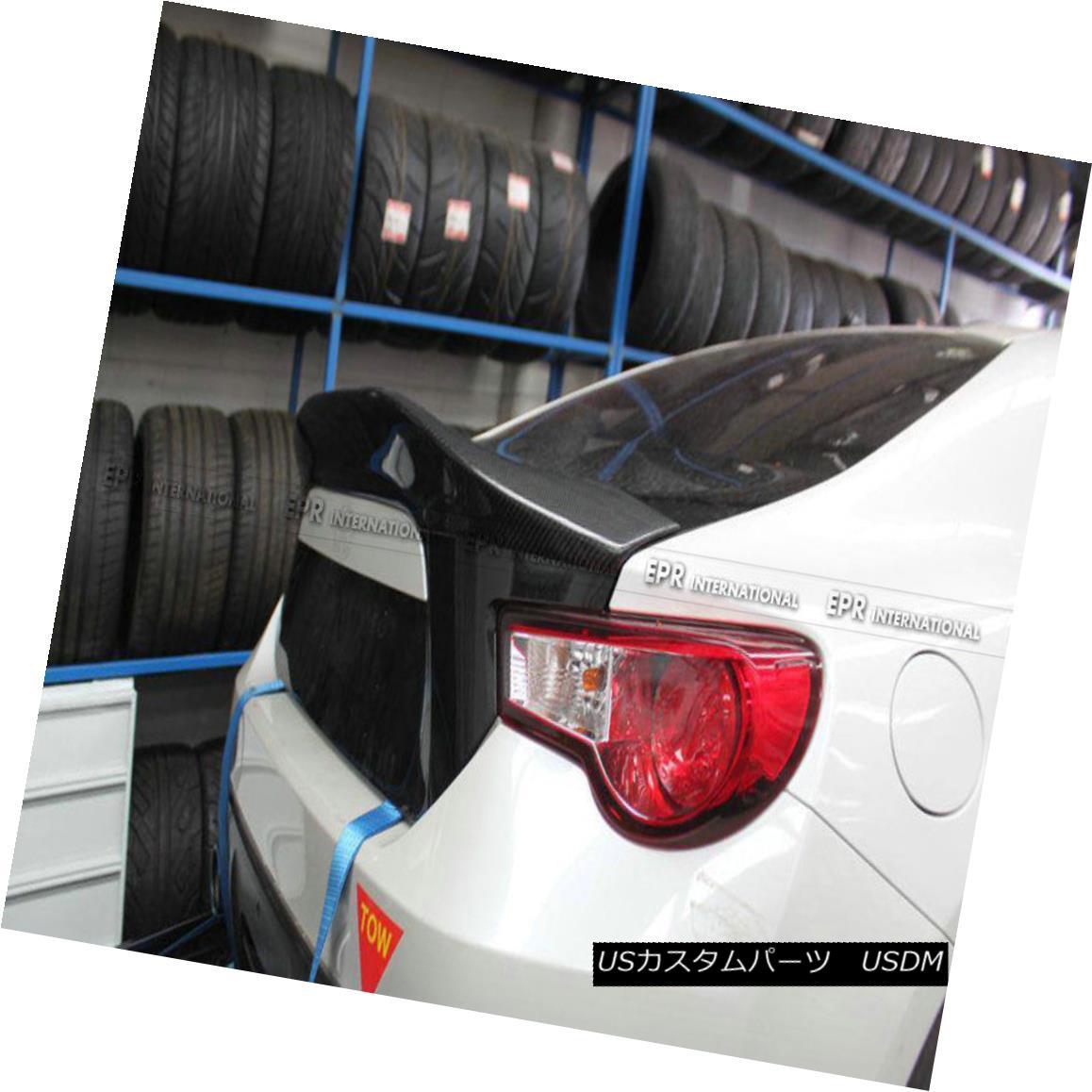 エアロパーツ Carbon Fiber Rear Duckbill Spoiler Wing For Toyota BRZ FT86 GT86 FRS LEG Style トヨタBRZ FT86 GT86用カーボンファイバーリアダックビルスポイラーウイングFRS LEGスタイル