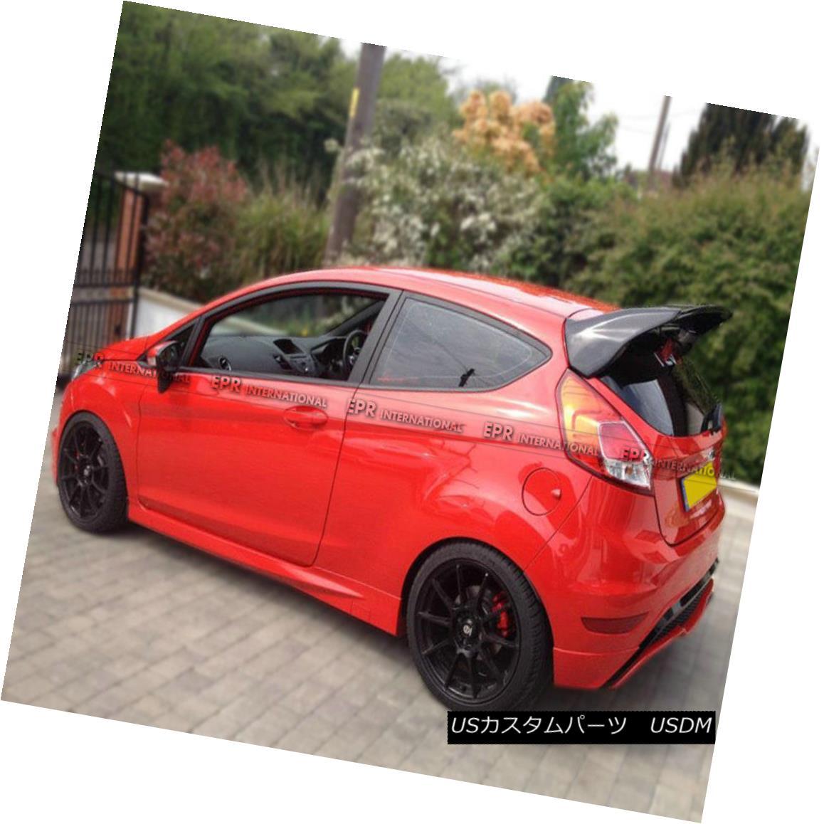 エアロパーツ ABC Rear Trunk Spoiler Wing Lip For Ford Fiesta ST Facelift RS Style FRP Craft Ford Fiesta ST用のABCリアトランクスポイラーウイングリップFacelift RSスタイルFRPクラフト