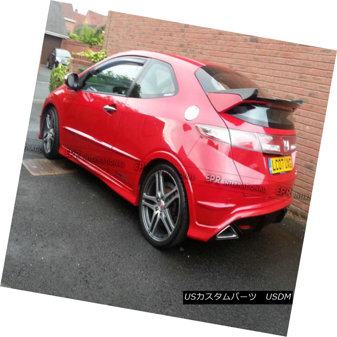 エアロパーツ AER Rear Spoiler Wing For Honda 07-11 Civic FN2 TypeR Seke Style Carbon Fiber ホンダ用AERリアスポイラーウイング07-11シビックFN2タイプRセークスタイルカーボンファイバー