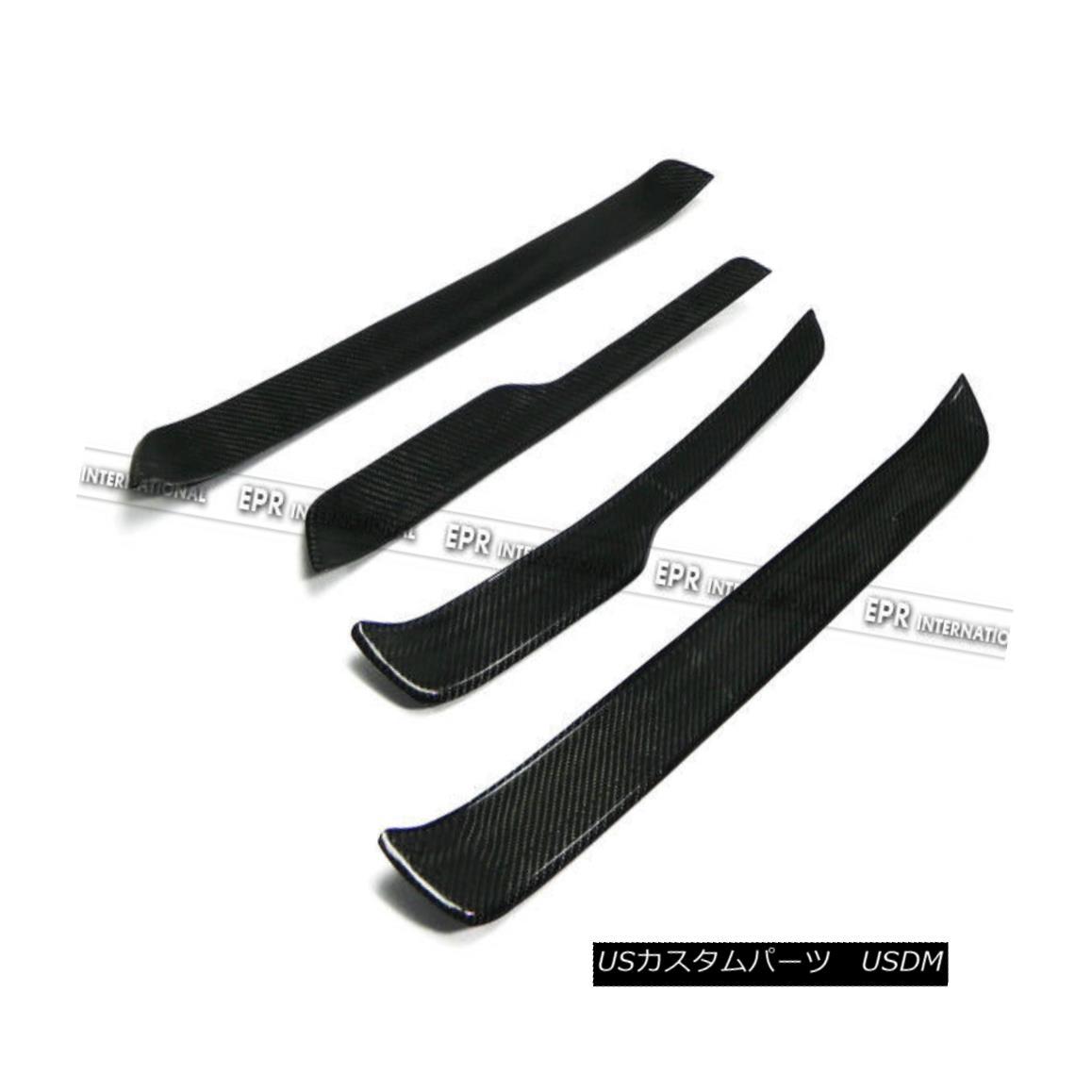 エアロパーツ ABC 4Pcs Side Door Sill Step Panel Plates Trim For BMW E90 Carbon Fiber Racing BMW E90カーボンファイバーレーシング用ABC 4Pcsサイドドアシルステップパネルプレートトリム