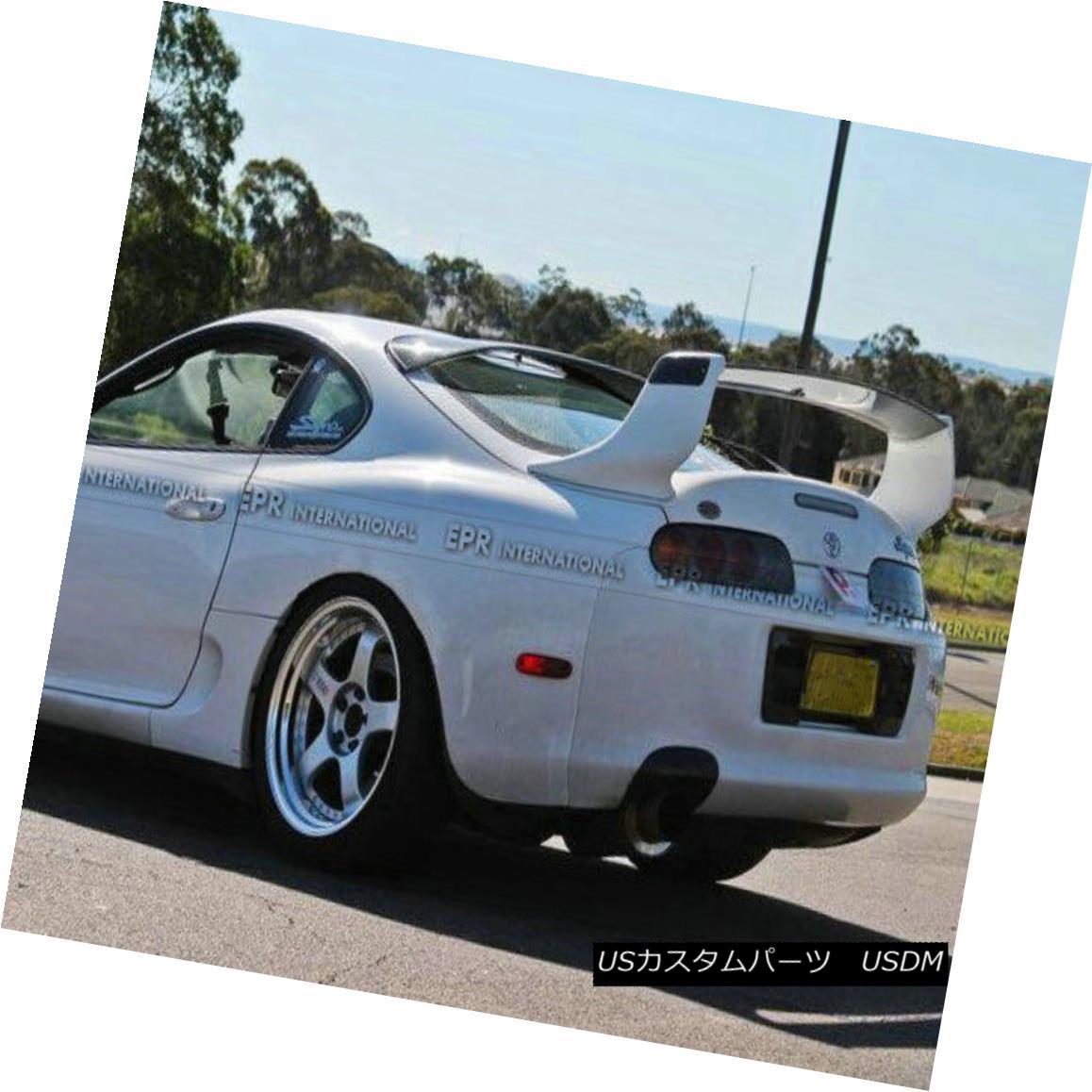 エアロパーツ ABC Rear Trunk Spoiler Wing Lip For Toyota MK4 Supra TRD1 Style Carbon Fiber トヨタMK4スーパーTRD1スタイルカーボンファイバー用ABCリアトランクスポイラーウイングリップ