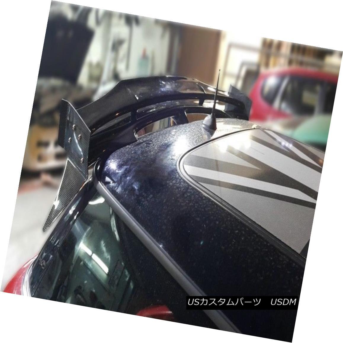 エアロパーツ Rear Roof Spoiler Window Lip For Mini Cooper S R56 07-13 DUAG Carbon Fiber ミニクーパーSのためのリアルーフスポイラーウィンドウリップ07-13 DUAGカーボンファイバー