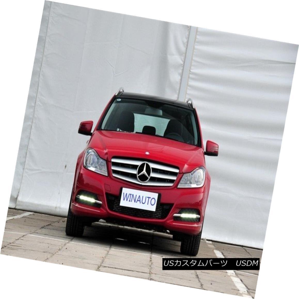 エアロパーツ DRL LED Driving Daytime Running Light For Benz W204 C200 C260 C300 2011-2012 ベンツW204 C200 C260 C300 2011-2012のための昼間走行灯を運転しているDRL LED