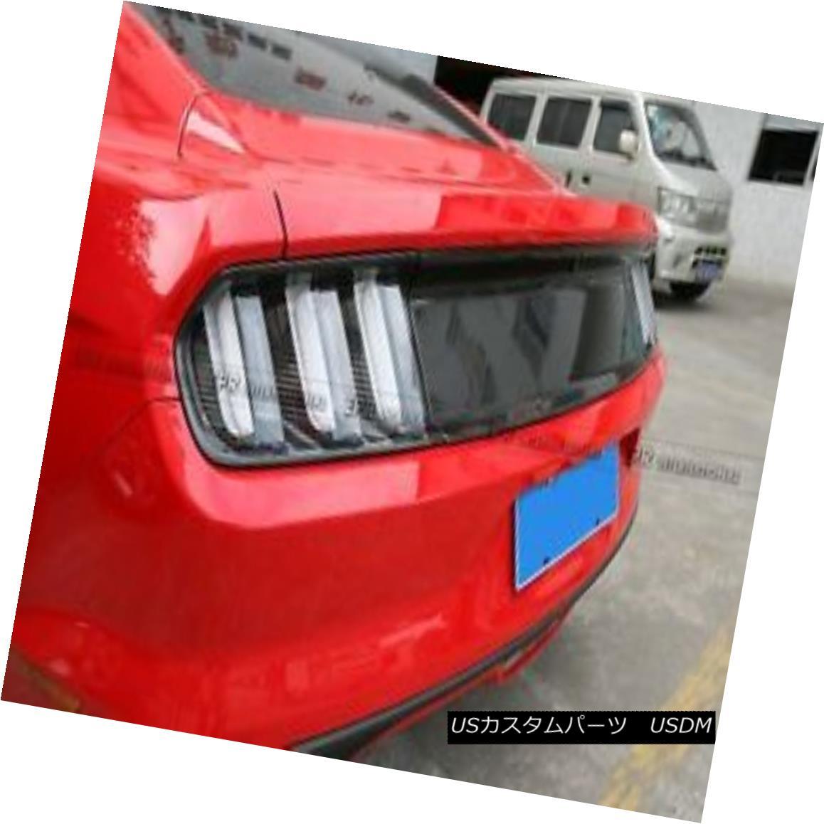 エアロパーツ Carbon Fiber Rear Boot Trim Mouldings Trim Trunk Cover For Ford 2015 Mustang フォード2015マスタングのためのカーボンファイバーリアブーツトリムモールディングトリムトランクカバー