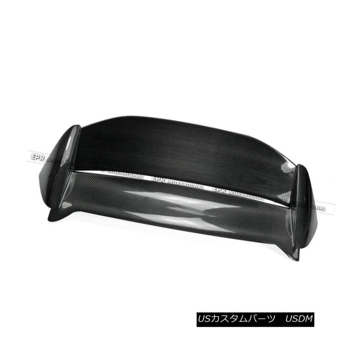 エアロパーツ ABC Carbon Hatchback Roof Spoiler Wing USDM For Honda 02-05 Civic EP3 Mug-Style ホンダ用ABCカーボンハッチバックルーフスポイラーウイングUSDM 02-05 Civic EP3マグスタイル